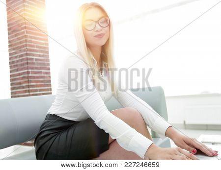 modern business woman in office