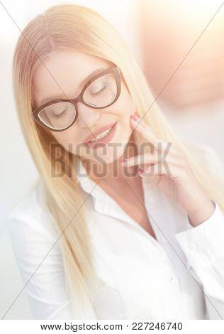 closeup portrait of successful business women