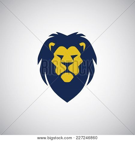 Stylized Lion Logo. Vector Illustration Design Template