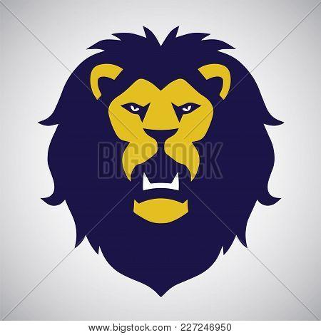 Wild Beast Lion Logo Design Vector Illustration Template