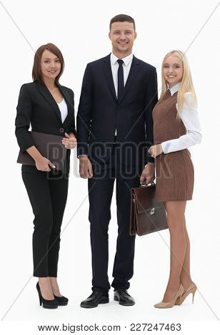 portrait in full growth. professional business team.