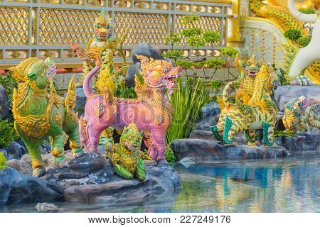 Bangkok, Thailand - December 25, 2017: Creature Sculpture, To Decorate The Royal Crematorium Of King