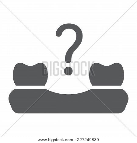 Missing Tooth Glyph Icon, Stomatology And Dental, Loose Tooth Sign Vector Graphics, A Solid Pattern