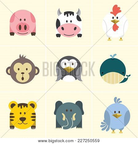 Cute Animals Circle Vector With Eps File