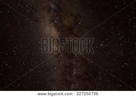 Austral Sky Milky Way Detail. Stars Background