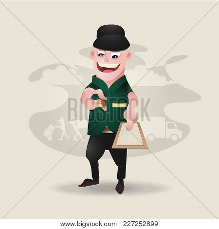 Vector Of Character Design Of Delivery Boy