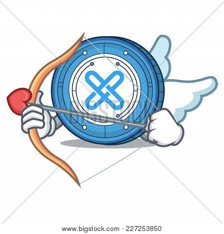 Cupid Gxshares Coin Character Cartoon Vector Illustration
