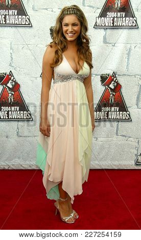 LOS ANGELES - JUN 05:  Kelly Brook arrives to the Mtv Movie Awards  on June 5, 2004 in Culver City, CA.