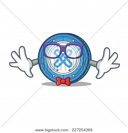 Geek Gxshares Coin Character Cartoon Vector Illustration