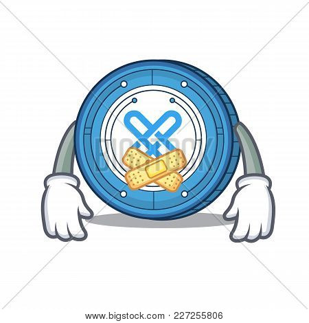 Silent Gxshares Coin Mascot Cartoon Vector Illustration