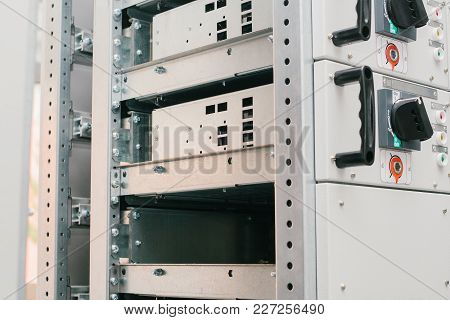 Low-voltage Cabinet. Modern Smart Technologies In The Electric Power Industry. The Use Of Electrical