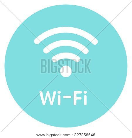 Icon Wi-fi Free Zone. Vector Sign Illustration For Website Design, Print Brochures Or Sticker. Eps10