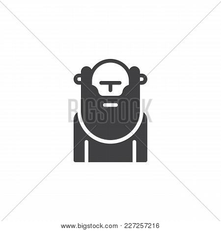 Wiseman With Beard Vector Icon. Filled Flat Sign For Mobile Concept And Web Design. Wisdom Person Si