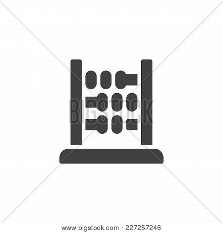 Abacus Vector Icon. Filled Flat Sign For Mobile Concept And Web Design. Arithmetic Simple Solid Icon