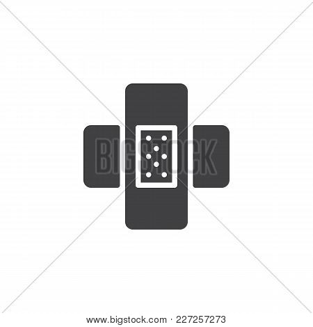 Patch Vector Icon. Filled Flat Sign For Mobile Concept And Web Design. Sticky Adhesive Tape Simple S
