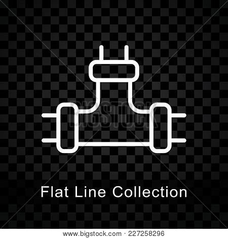 Illustration Of Pipe Icon On Checkered Background