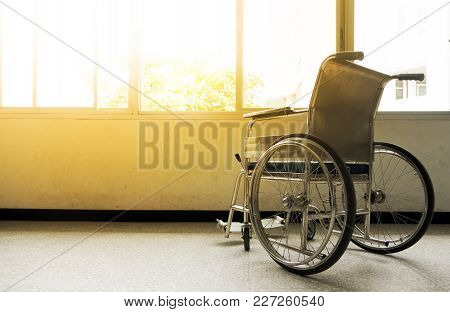 Wheelchairs Waiting For Disability People Services.wheelchairs In The Hospital