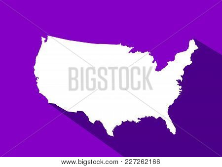 Usa Map Vector Illustration In Flat Style