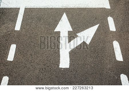 Path And Direction Indicators On The Ground