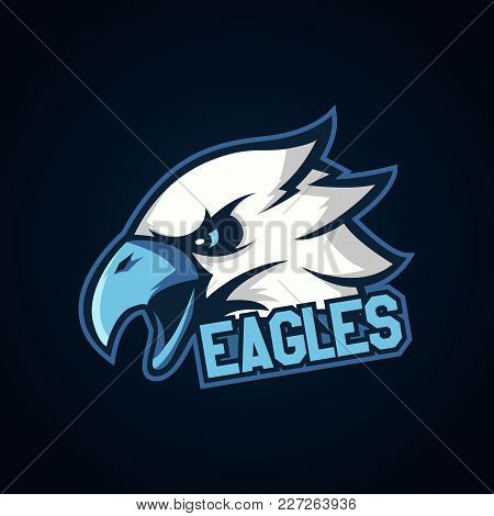 Modern Professional Logo For Sport Team. Eagle Mascot. Eagles, Vector Symbol On A Light Background