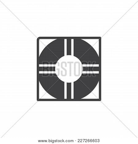 Life Buoy Vector Icon. Filled Flat Sign For Mobile Concept And Web Design. Lifesaver Simple Solid Ic