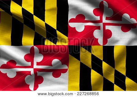 Fabric Texture Of The Maryland Flag Background - Flags From The Usa