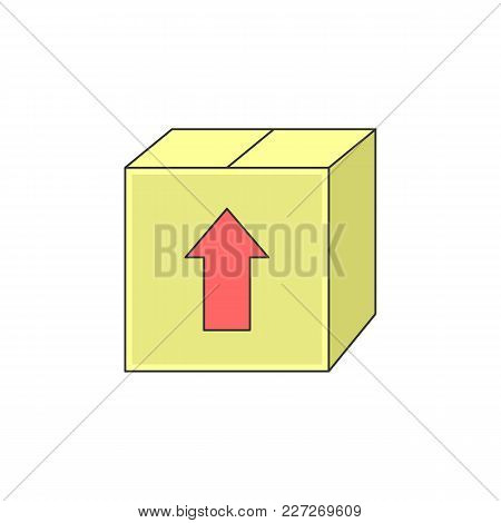 Simple Box Package Sending Vector Outline Icon Illustration Graphic Design
