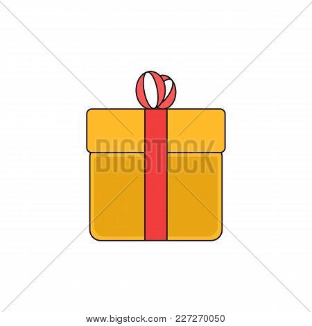 Simple Gift Box Package Vector Outline Icon Illustration Graphic Design