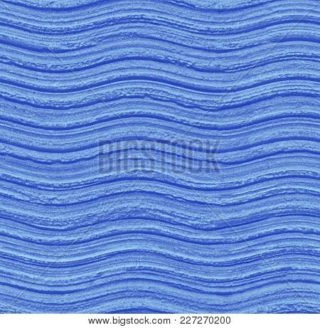 Seamless Blue Wavy Stone Texture Background Pattern. Stone Seamless Texture Surface With Horizontal