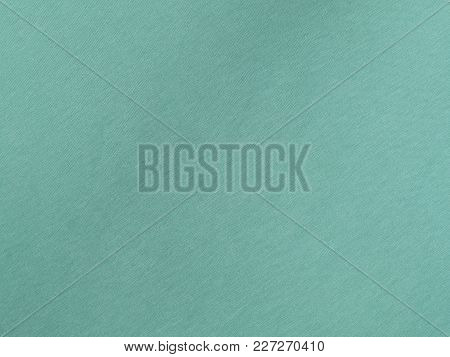 The Fabric Background In Mint Color Texture