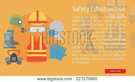 Safety Construction Conceptual Banner | Set Of Great Banner Design Illustration Concepts For Buildin