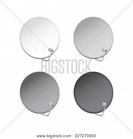 Television Aerial. Satellite Television Dish Vector Illustration.