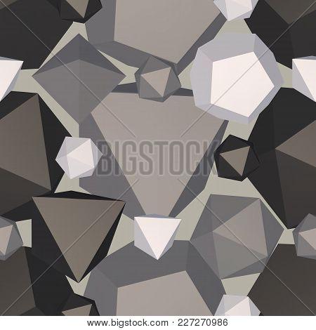 Geometric Shaped Backdrop. Vector Illustration Seamless Pattern.