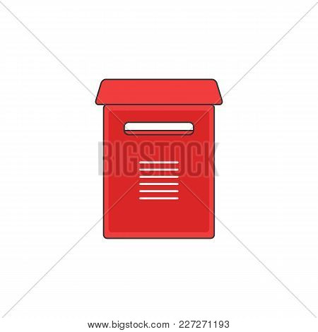 Red Mailbox Support Vector Outline Icon Illustration Graphic Design