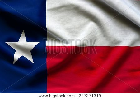 Fabric Texture Of The Texas Flag Background - Flags From The Usa