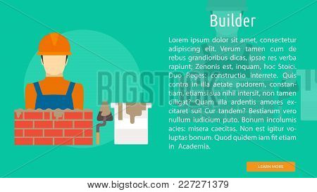 Builder Conceptual Banner | Set Of Great Banner Design Illustration Concepts For Building, Architect