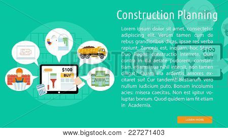 Construction Planning Conceptual Banner | Set Of Great Banner Design Illustration Concepts For Build