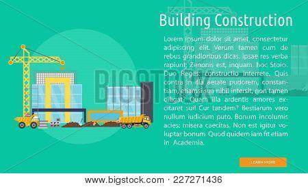 Building Construction Conceptual Banner | Set Of Great Banner Design Illustration Concepts For Build