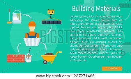 Building Materials Conceptual Banner | Set Of Great Banner Design Illustration Concepts For Building