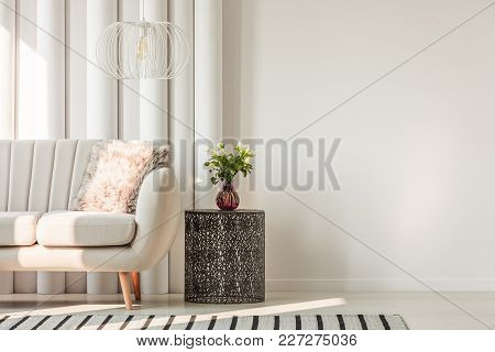 Sofa And Table In Living Room