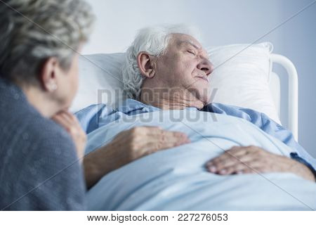 Dying Man In The Hospital