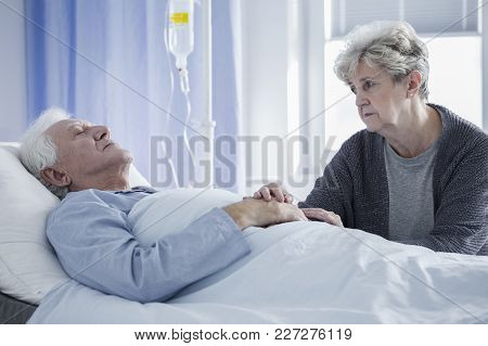 Sick Man And Worried Wife
