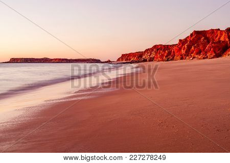 Sunset At Cape Leveque In The North West Of Western Australian Near The Town Of Broome. Western Aust