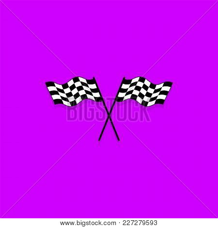 Crossed Checkered Flags. Finish User Interface Race Icon