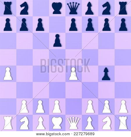 Mate Situation In Chess. Checkmate Setup Illustration