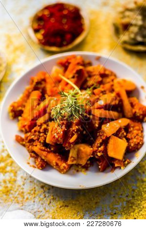 Traditional/regional Carrot Pickle,daucus Carota Subsp. Sativus Pickle With Ingredients Like Red Pep