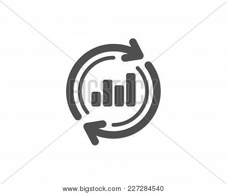 Chart Simple Icon. Update Report Graph Or Sales Growth Sign. Analysis And Statistics Data Symbol. Qu