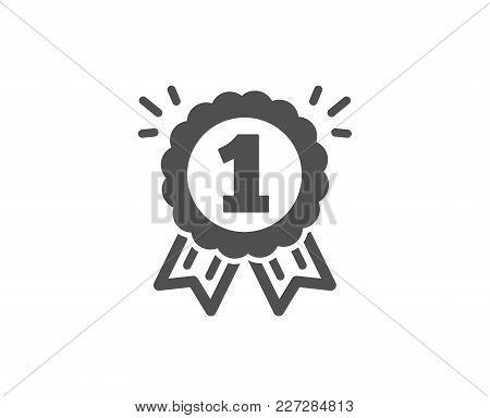Reward Medal Simple Icon. Winner Achievement Or Award Symbol. Glory Or Honor Sign. Quality Design El