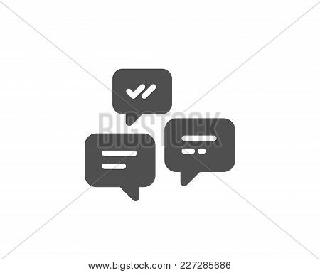 Chat Messages Simple Icon. Conversation Or Sms Sign. Communication Symbol. Quality Design Elements.