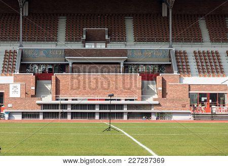 Amsterdam, Netherlands - April 20, 2017: Amsterdam Olympic Stadium (olympisch Stadion), Main Stadium